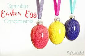 easter egg ornaments egg ornament tutorial sprinkle eggs crafts unleashed