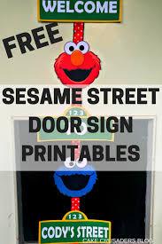 sesame street door sign free printables