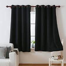 Blackout Curtains Deconovo Black Thermal Insulated Blackout Panel
