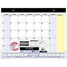 desk pad calendar 2017 amazon com at a glance desk pad calendar 2017 monthly 21 3 4 x