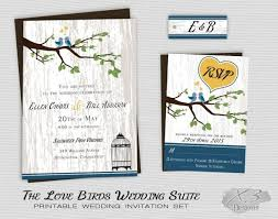 Backyard Wedding Invitations Rustic Country Wedding Invitation Printable Love Birds Wedding