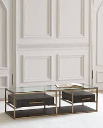 Two Drawer Coffee Table Furniture Vedetta Two Drawer Coffee Table Horchow Neiman
