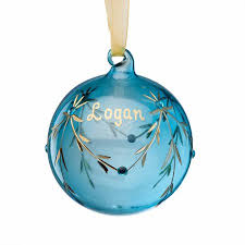 birthstone ornament personalized glass christmas ornament march birthstone walmart