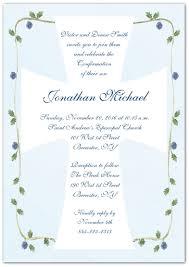 confirmation invitations blue roses vine cross confirmation invitations storkie