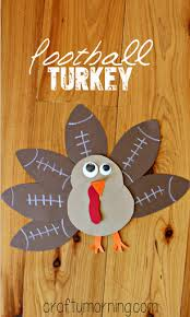 football turkey craft for to make crafty morning