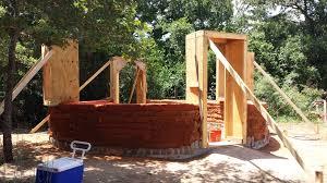 earthbag round house and natural plaster workshop design build live