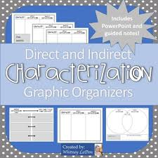 direct and indirect characterization teaching resources teachers