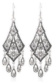 dangle earrings solid color boho filigree dangle earrings fashion earrings