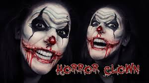 horror scary chelsea smile clown makeup face painting