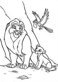 simba mufasa zazu lion king coloring simba mufasa