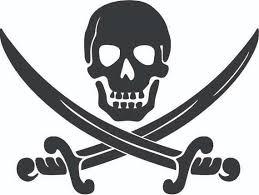 pirate skull 2 crossbones sword jolly roger ship boat boating