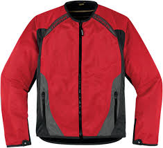 mesh motorcycle jacket icon anthem mesh motorcycle jacket red