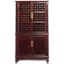 chinese kitchen cabinet elmwood fretwork chinese kitchen cupboard with hardware from the