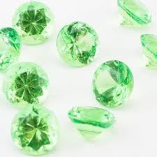 mini clear acrylic crystal diamond gems vase fill confetti table