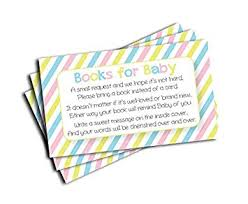 baby shower book insert request cards 50 cards