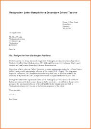 teacher resignation letters teacher resignation letter sample