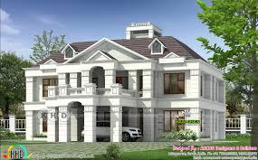 colonial home plan by arcon designers u0026 builders kerala home