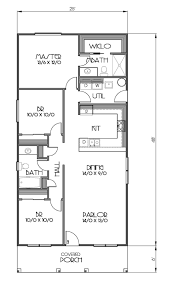 House Plans Under 1000 Sq Ft by Small Three Bedroom House Plans Floor Plan With Dimensions Modern