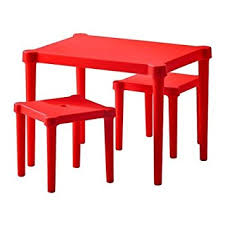 Red Kitchen Table And Chairs Amazon Com Ikea Utter Children U0027s Table And 2 Chairs Red Kitchen