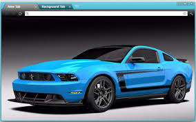 sky blue mustang chrome web store