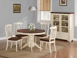 dark brown round kitchen table cream round dining table and chairs with buffet and square carpet