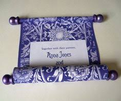 scroll invitations diy carnation damask wedding invitation scroll set of 5 scrolls