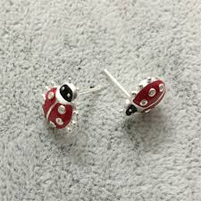 original earrings aliexpress buy 925 sterling silver earrings original ladybug