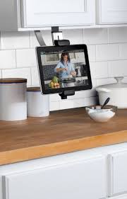 high tech kitchen gadgets to drool over belkin kitchen cabinet tablet mount