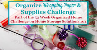 wrapping supplies how to organize wrapping paper gift bags