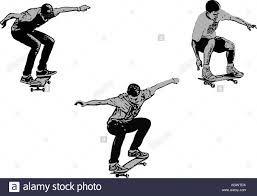 skateboard stock vector images alamy
