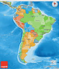 america map political political 3d map of south america physical outside