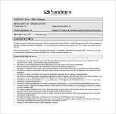 11 office manager job description templates free sample