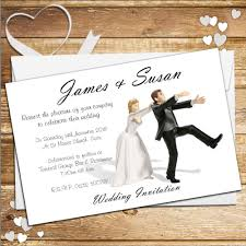 printed wedding invitations 10 personalised wedding invitations day or evening n40