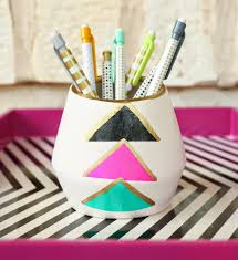 Pencil Holder For Desk A Kailo Chic Life Tissue Paper Pencil Holder