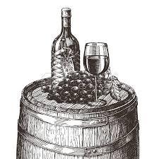 sketch bottle of wine on a white background vector illustration