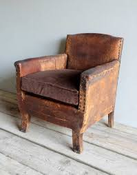 Leather Arm Chairs French Antique Leather Armchair U203a Puckhaber Decorative Antiques