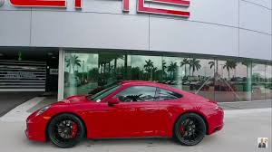 red porsche black wheels 2017 carmine red porsche 911 carrera 4 gts porsche west broward
