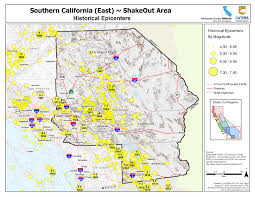 Map Of Southern Oregon by The Great California Shakeout Inland Southern California Area