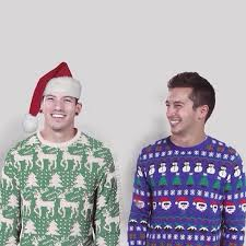 josh dun and tyler joseph in christmas sweaters twenty one pilots