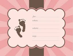 baby girl invitations baby shower footprint invitationbaby shower footprint invitation