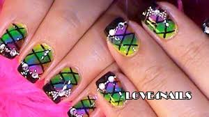 rainbow water marble nails design how to nail art tutorial for