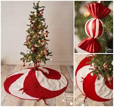 crochet pattern peppermint swirl christmas tree skirt warm