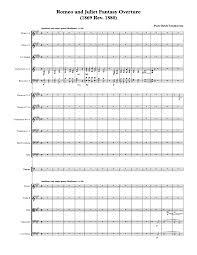 romeo and juliet overture fantasia tchaikovsky pyotr imslp