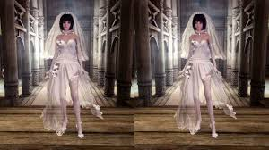 haku wedding dress unp from mmd to skyrim at skyrim nexus