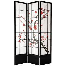 tall room dividers oriental furniture cherry blossom 84 inch shoji screen room