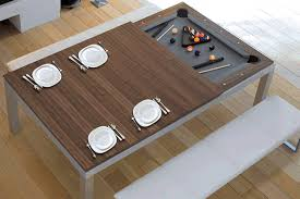 Convertible Pool Tables Make Entertaining Double The Fun - Pool dining room table