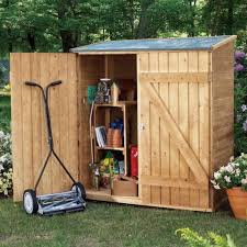 wooden outdoor tool shed for garden tools
