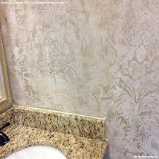 bathroom wall stencil ideas wall stencils the secret to remodeling your bathroom on a budget