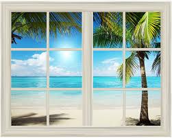 wall26 com art prints framed art canvas prints greeting white beach and blue sea view window view mural wall sticker 24