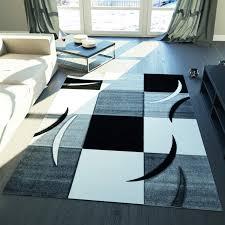 Schwarz Weis Wohnzimmer Bilder Karierter Kurzfloch Teppich Grau Schwarz Weiß Kachel Muster